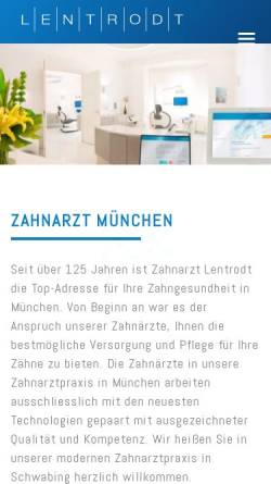 Vorschau der mobilen Webseite zahnarztlentrodt.de, Dres. Lentrodt Zahnärzte