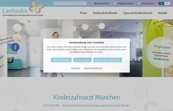 Vorschau von www.lachzahn.de, Kinderzahnärztin Dr. Bettina Brem