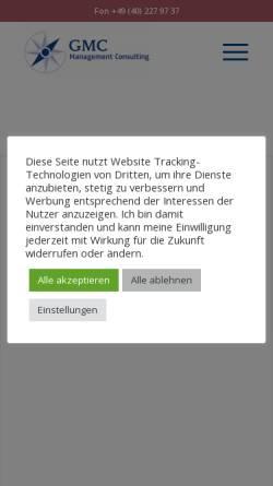 Vorschau der mobilen Webseite www.gmc-consulting.de, GMC Glasow Management Consulting GmbH