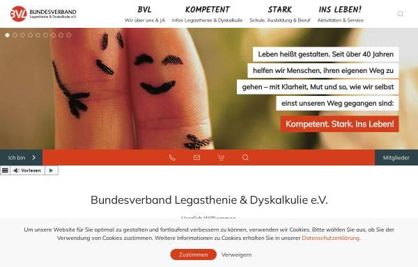 Vorschau von www.bvl-legasthenie.de, Bundesverband für Legasthenie und Dyskalkulie e.V.
