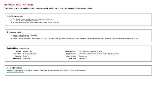 Vorschau von www.markis-aviaweb.ch, Markis Aviaweb