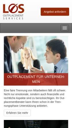 Vorschau der mobilen Webseite www.los-outplacement.de, Langnickel Outplacement Services