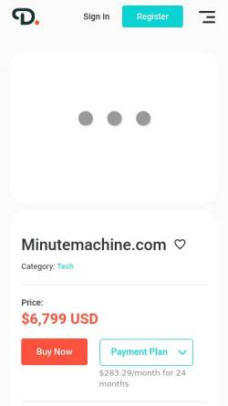 Vorschau der mobilen Webseite www.minutemachine.com, MinuteMachine SLU