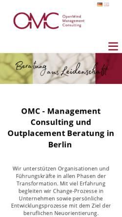 Vorschau der mobilen Webseite www.omc-berlin.de, OMC Ortleb Management Consulting