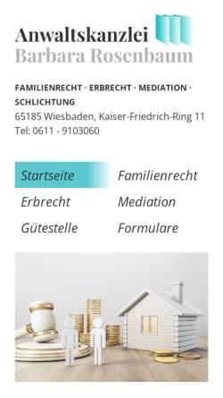 Vorschau der mobilen Webseite www.anwaltskanzlei-rosenbaum.de, Rosenbaum Rechtsanwälte