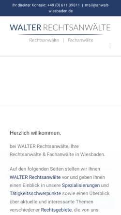 Vorschau der mobilen Webseite www.anwalt-wiesbaden.de, Wolfarth & Partner GbR