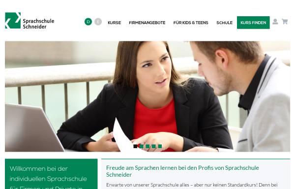 Vorschau von www.sprachschuleschneider.ch, Sprachschule Schneider AG