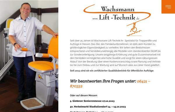 Vorschau von www.lift-technik.de, Wachsmann Lift-Technik