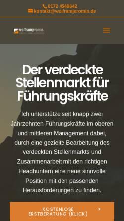 Vorschau der mobilen Webseite www.wolframjeromin.de, Wolfram Jeromin
