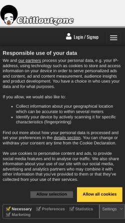 Vorschau der mobilen Webseite www.chilloutzone.net, Chilloutzone