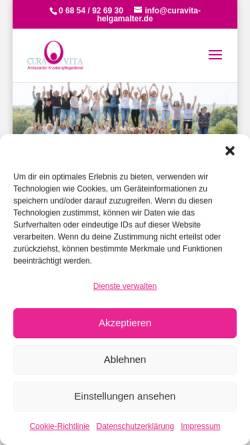 Vorschau der mobilen Webseite www.curavita-helgamalter.de, Cura Vita