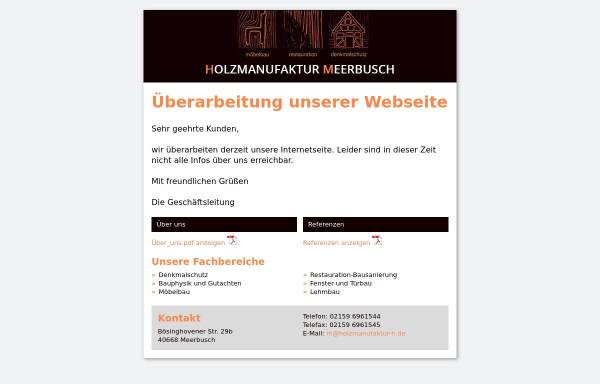 Vorschau von www.holzmanufaktur-h.de, Holzmanufaktur H aus Meerbusch