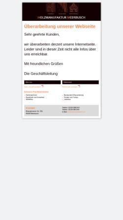 Vorschau der mobilen Webseite www.holzmanufaktur-h.de, Holzmanufaktur H aus Meerbusch