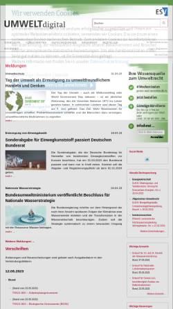 Vorschau der mobilen Webseite www.umweltdigital.de, UMWELTonline, ESV - Erich Schmidt Verlag GmbH & Co.