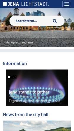 Vorschau der mobilen Webseite www.jena.de, Volkshochschule Jena