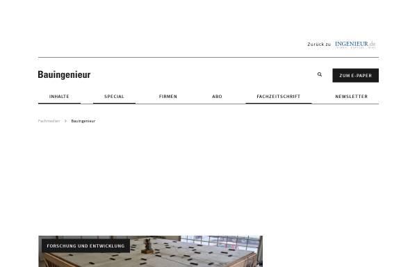 Vorschau von www.bauingenieur.de, Bauingenieur
