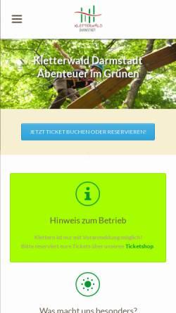 Vorschau der mobilen Webseite www.kletterwald-darmstadt.de, Kletterwald