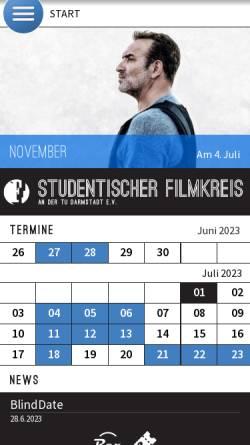 Vorschau der mobilen Webseite www.filmkreis.tu-darmstadt.de, Studentischer Filmkreis an der TU Darmstadt