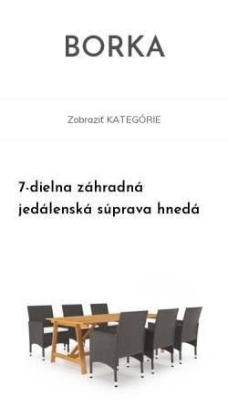 Vorschau der mobilen Webseite www.borka.sk, Ferienhaus Bôrka