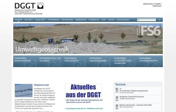 Vorschau von dggt.de, Deutsche Gesellschaft für Geotechnik e.V. (DGGT)