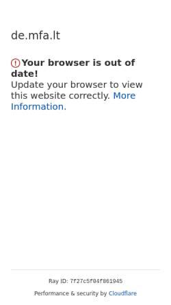 Vorschau der mobilen Webseite de.mfa.lt, Litauen