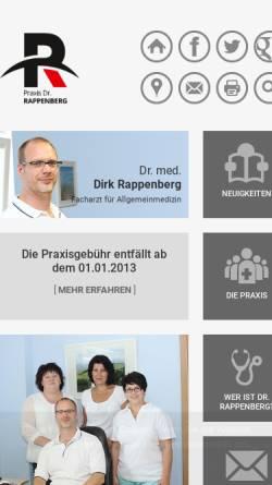 Vorschau der mobilen Webseite www.praxis-rappenberg.de, Rappenberg, Dr. med. Dirk