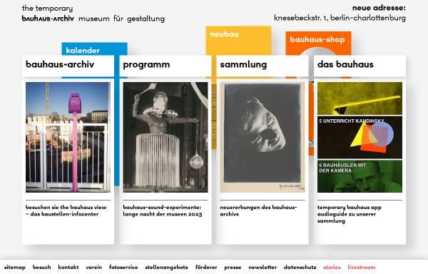 Vorschau von www.bauhaus.de, Bauhaus Archiv - Museum für Gestaltung