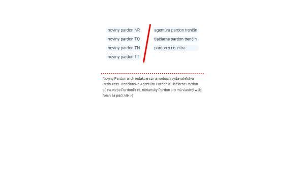 Vorschau von www.pardon.sk, Zeitung und Druckerei Pardon
