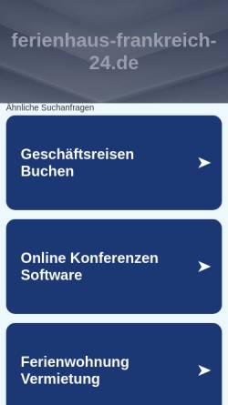 Vorschau der mobilen Webseite www.ferienhaus-frankreich-24.de, Ferienhäuser von Privat
