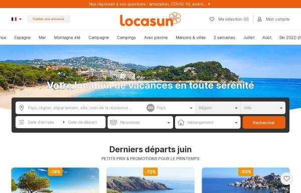 Vorschau von www.locasun.fr, Locasun