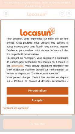 Vorschau der mobilen Webseite www.locasun.fr, Locasun