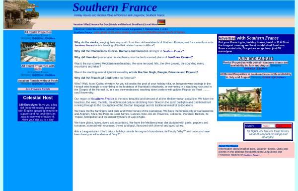 Vorschau von www.southernfrance.biz, Southern France