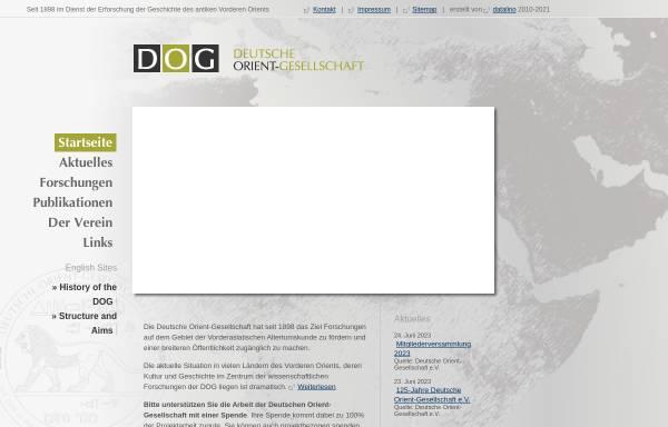 Vorschau von www.orient-gesellschaft.de, Deutsche Orient-Gesellschaft