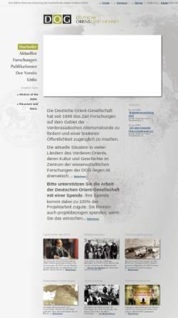Vorschau der mobilen Webseite www.orient-gesellschaft.de, Deutsche Orient-Gesellschaft
