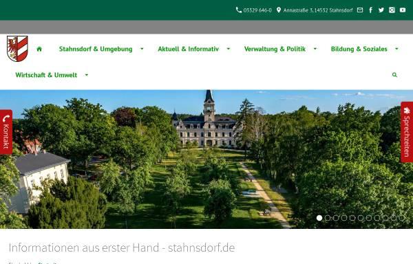 Vorschau von www.stahnsdorf.de, Stahnsdorf