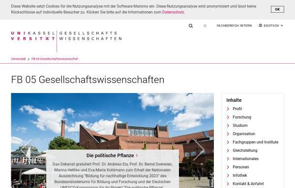 Vorschau von www.uni-kassel.de, AG Friedensforschung und Bundesausschuß Friedensratschlag