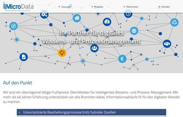 Vorschau von www.mdat.com, MicroData GmbH