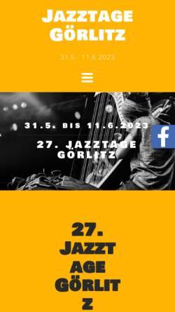 Vorschau der mobilen Webseite jazztage-goerlitz.de, Jazztage Görlitz