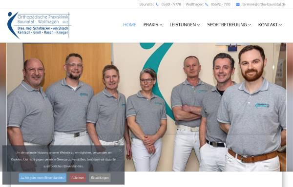 Vorschau von www.ortho-baunatal.de, REHA Baunatal - Ambulantes Zentrum, Orthopädische Praxisklinik Baunatal