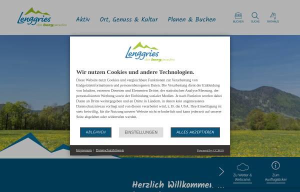 Vorschau von www.lenggries.de, Gemeinde Lenggries