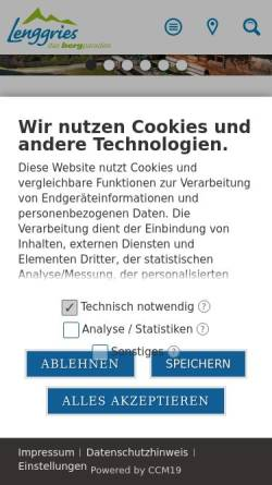 Vorschau der mobilen Webseite www.lenggries.de, Gemeinde Lenggries