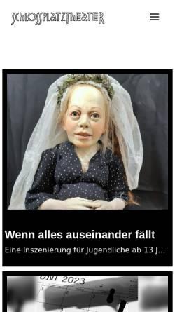 Vorschau der mobilen Webseite www.schlossplatztheater.de, Schlossplatztheater