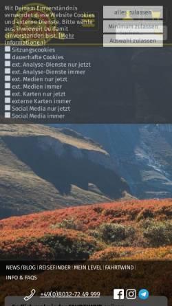 Vorschau der mobilen Webseite www.mtb-fahrtwind.de, Fahrtwind