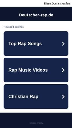 Vorschau der mobilen Webseite www.deutscher-rap.de, deutscher-rap.de