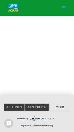 Vorschau der mobilen Webseite www.lippeagrar.de, Lippe Agrar Handelsgesellschaft mbH