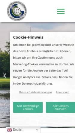 Vorschau der mobilen Webseite www.golf-duetetal.de, Golfclub Osnabrück - Dütetal e.V., Lotte-Wersen