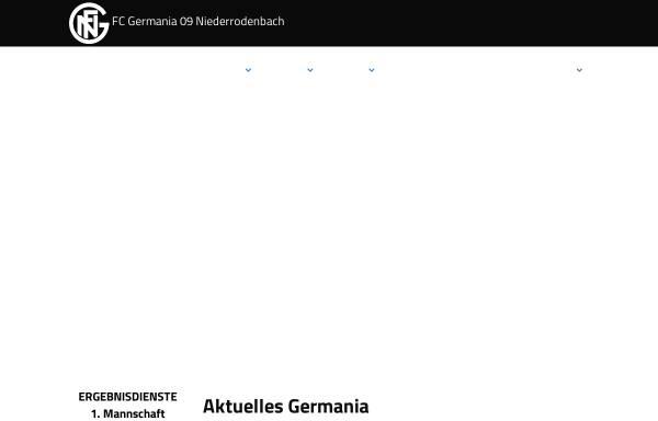 Vorschau von www.germania09.de, FC Germania 09 e.V. Niederrodenbach