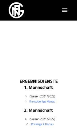 Vorschau der mobilen Webseite www.germania09.de, FC Germania 09 e.V. Niederrodenbach