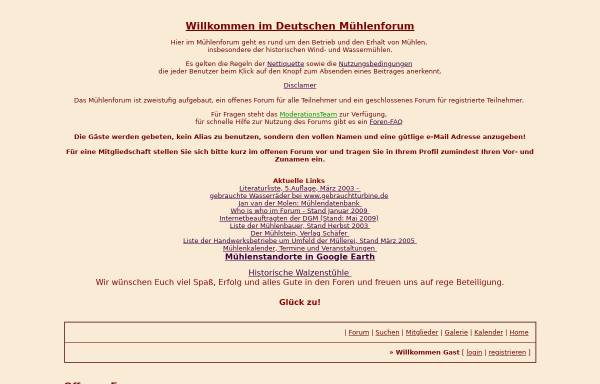 Vorschau von www.forumromanum.de, Deutsches Mühlenforum