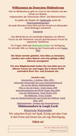 Vorschau der mobilen Webseite www.forumromanum.de, Deutsches Mühlenforum